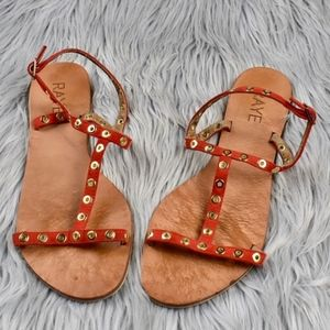 (RAYE) Red Strappy Sue Sandal